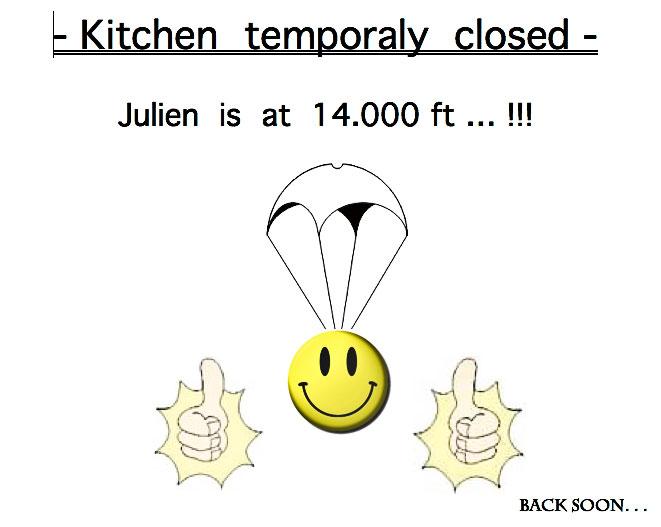 Cuisine momentanément fermée