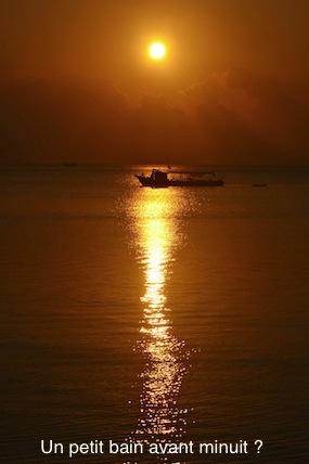 coucher soleil thailande koh tao
