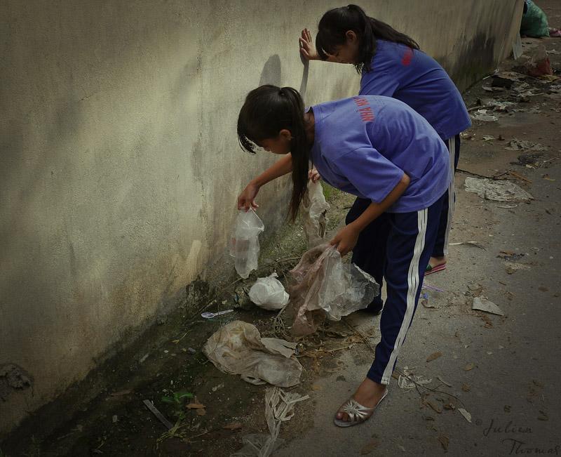 Réutilisation plastique, Vietnam, Julien Thomas