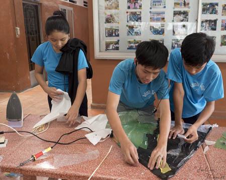 Projet julien thomas, i Believe we can Fly ! recyclage matières plastiques, vietnam, saint vincent de Paul, éco-ludique