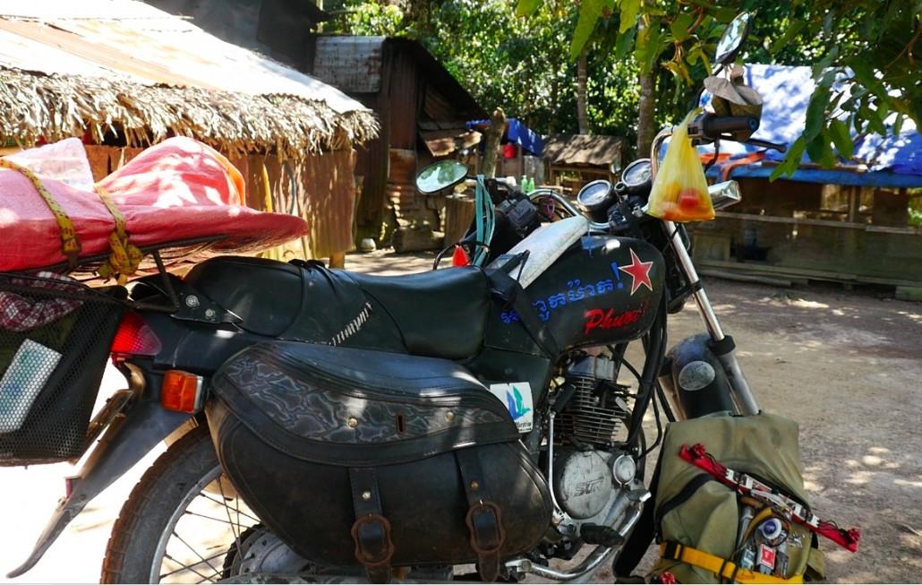 Avant de repartir avec sa moto et direction le Cambodge !