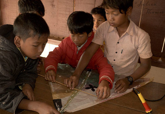 Atelier cerf-volant, Cambodge