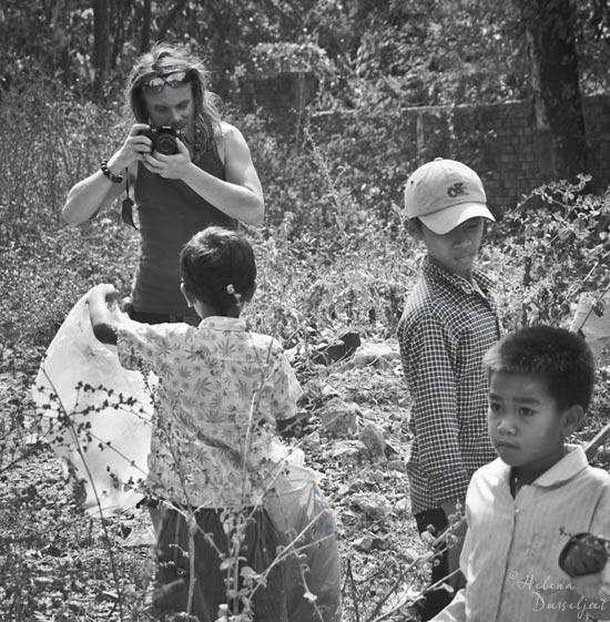 Julien Thomas déchets plastiques Sihanoukville