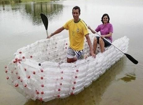 boat plastic bottle