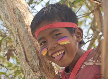 enfants, peinture, indiens, carnaval, Cambodge, julien Thomas